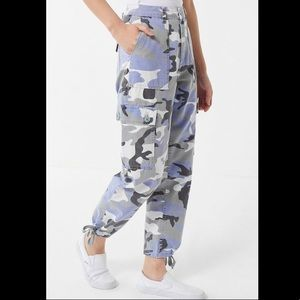 Urban Outfitters Purple Camo Cargo Pants